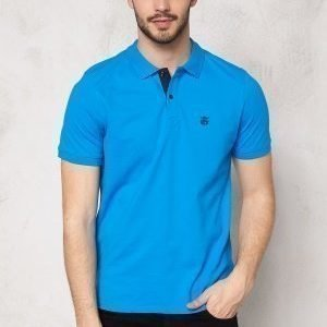 Selected Homme Aro SS Embroidery Polo Blue Aster