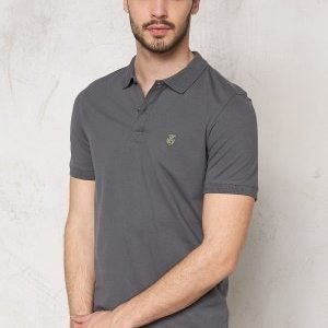 Selected Homme Aro SS Embroidery Polo Iron Gate