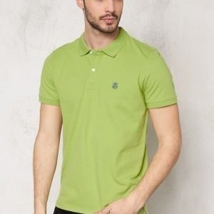 Selected Homme Aro SS Embroidery Polo Leaf Green