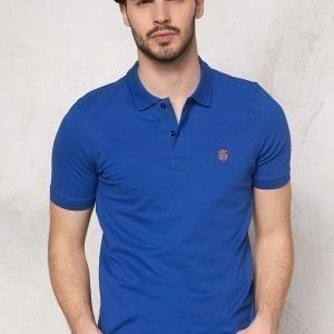 Selected Homme Aro SS Embroidery Polo Monaco blue