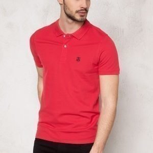Selected Homme Aro SS Embroidery Polo Virtual Pink