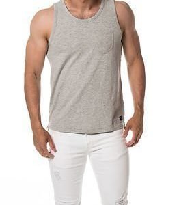 Selected Homme Caleb Tank Top Light Grey Melange