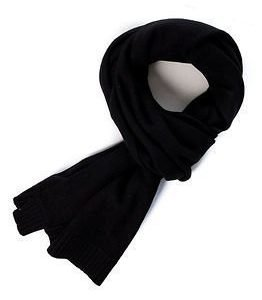 Selected Homme Cash Plain Scarf Black