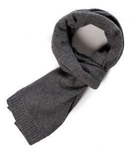 Selected Homme Cash Plain Scarf Medium Grey Melange