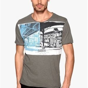 Selected Homme City ss O-neck Gunmetal