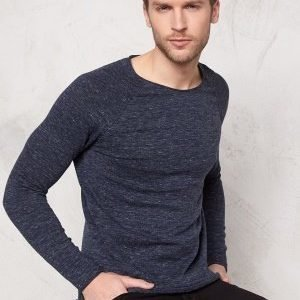 Selected Homme Clash Crew Neck Dark Blue