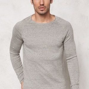 Selected Homme Clash Crew Neck White Pepper