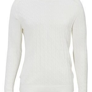 Selected Homme Clay Cable crew neck Marshmallow