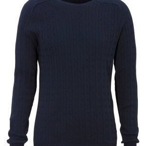 Selected Homme Clay Cable crew neck Navy Blazer