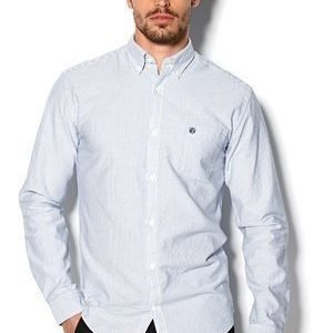 Selected Homme Collect Shirt Valkoinen/Vaaleansininen Str