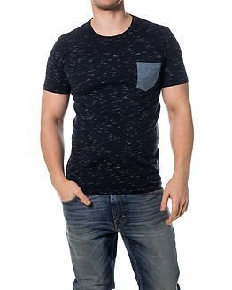 Selected Homme Dindi SS O-Neck Dark Sapphire