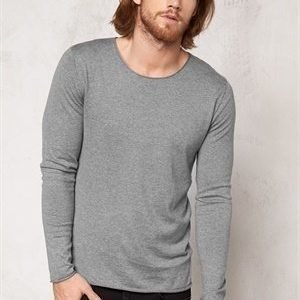 Selected Homme Dome Crew Neck Noos Medium Grey Melange