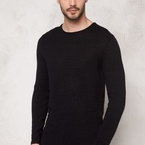 Selected Homme Gary Crew Neck Black