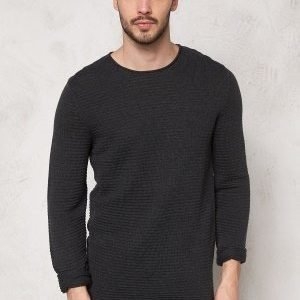 Selected Homme Gary Crew Neck Dark Grey