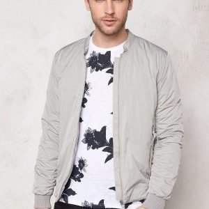 Selected Homme Light Bomber Jacket Ghost Gray