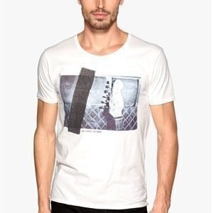 Selected Homme Made ss O-neck Egret