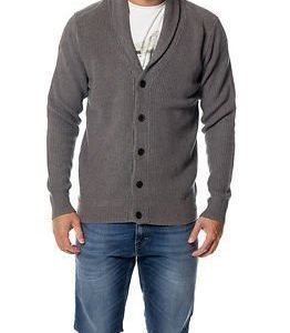 Selected Homme Mik Shawl Neck Cardigan Medium Grey Melange