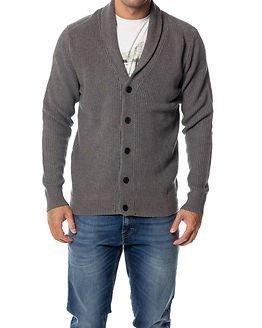 Selected Homme Mik Shawl Neck Cardigan Medium Grey Melange