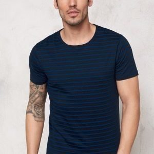 Selected Homme Moon SS O-Neck Tee Dark Sapphire