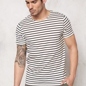 Selected Homme Moon SS O-Neck Tee Marshmallow