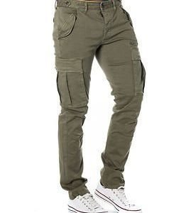Selected Homme Naples Olive Slim Cargo Pants