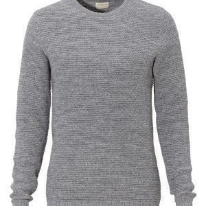 Selected Homme New Vince Bubble Crew Medium Grey Melange