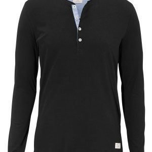 Selected Homme Niklas LS Split Neck Black