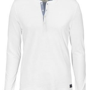 Selected Homme Niklas LS Split Neck Bright White