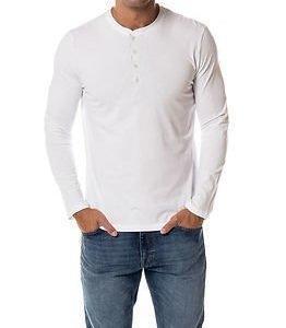Selected Homme Niklas Split Neck Bright White