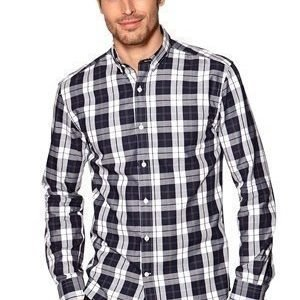 Selected Homme One Jax Check Shirt Navy Blue