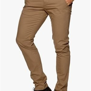 Selected Homme One Luca Chino Pant Dark Camel