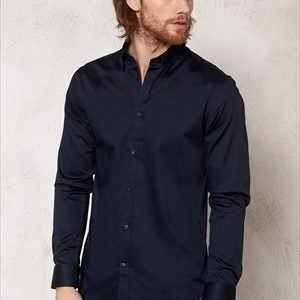 Selected Homme One Travistbelfast Shirt Navy Blazer