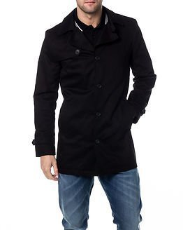 Selected Homme Phil Trenchcoat Black