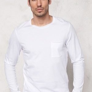 Selected Homme Pima Florence ls O-Neck Bright White