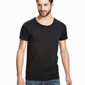 Selected Homme Pima New Dave Deep Noos T-paita Black
