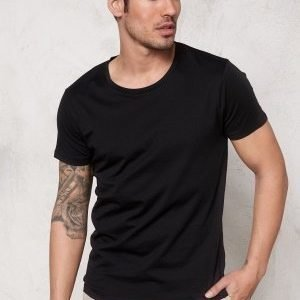 Selected Homme Pima New Dave ss T-shirt Black