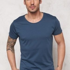 Selected Homme Pima New Dave ss T-shirt Insignia Blue