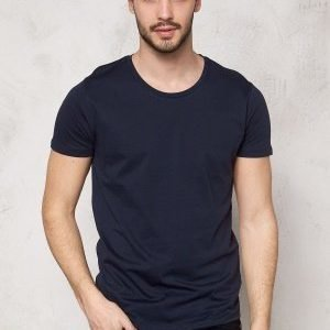 Selected Homme Pima New Dave ss T-shirt Night Sky