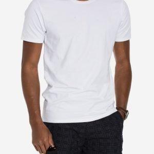 Selected Homme Pima Ss O-Neck Noos T-paita Valkoinen