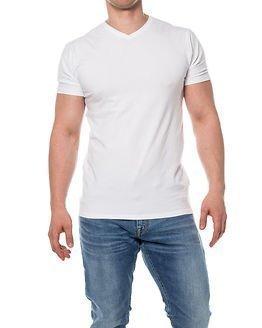 Selected Homme Pima V-neck White