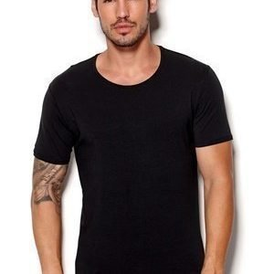 Selected Homme Pima ss O-neck Musta