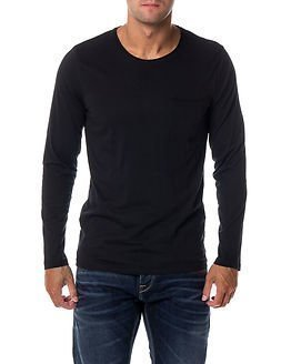 Selected Homme Pimaflorence O-Neck Black