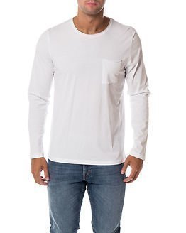 Selected Homme Pimaflorence O-Neck Bright White