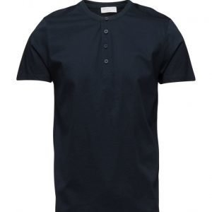 Selected Homme Shdapollo Ss Split Neck Tee lyhythihainen t-paita