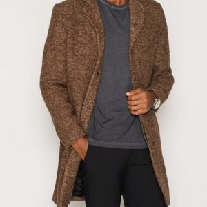 Selected Homme Shdbrook Boucle Coat Takki Vaaleanruskea