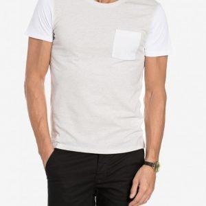 Selected Homme Shdcasper Ss O-Neck Tee T-paita Valkoinen