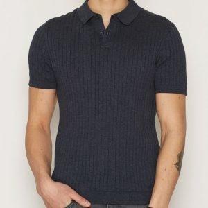 Selected Homme Shdcoy Knitted Polo Pikeepaita Sininen