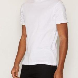 Selected Homme Shdhigh Ss O-Neck Tee T-paita Valkoinen