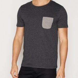 Selected Homme Shdindoe Ss O-Neck Tee T-paita Tummanvihreä