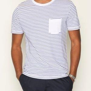 Selected Homme Shdivan Ss O-Neck Tee T-paita Valkoinen